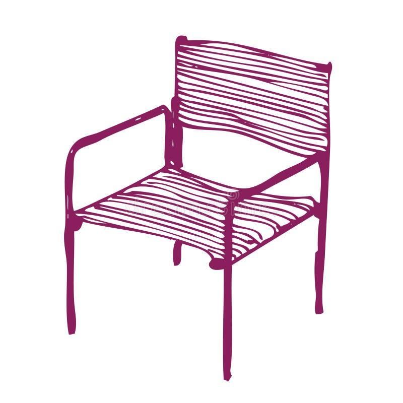 Moderne stoel stock illustratie