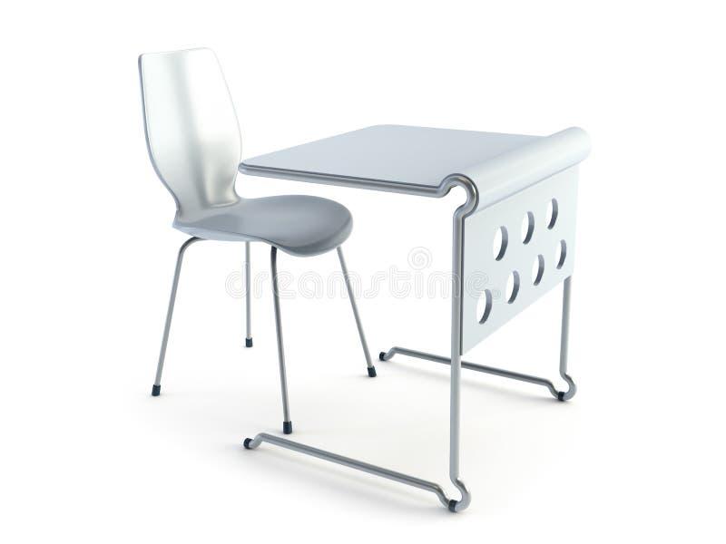 Moderne stoel en lijst royalty-vrije illustratie