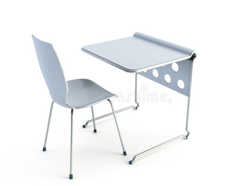 Moderne stoel en lijst stock illustratie
