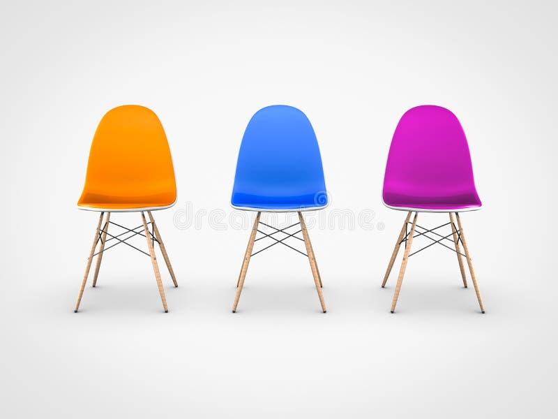 Moderne stoelen op witte achtergrond stock illustratie for Witte moderne stoelen