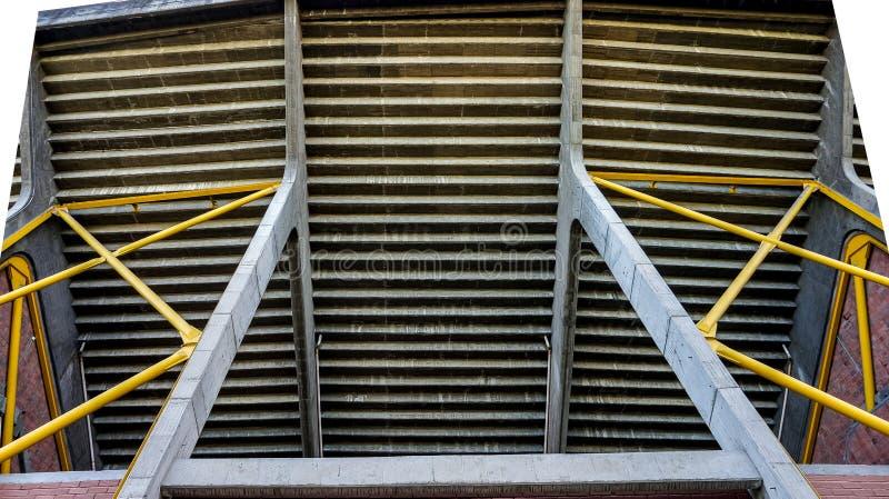 Moderne structuren en materialen voor veiligheid stock foto