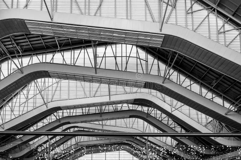 Moderne structuren en materialen voor veiligheid stock fotografie