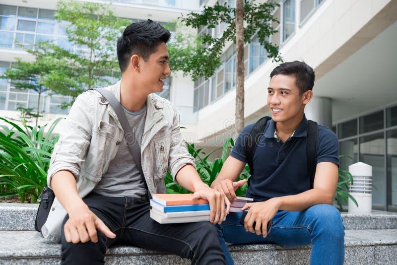 Moderne studenten stock foto