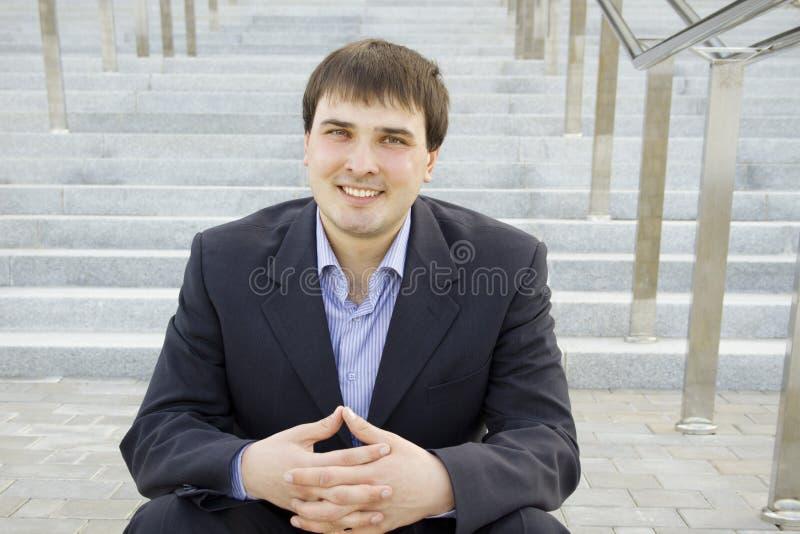 Moderne succesvolle zakenman royalty-vrije stock fotografie