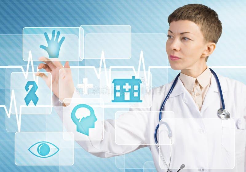 Moderne technologieën in geneeskunde royalty-vrije stock afbeelding