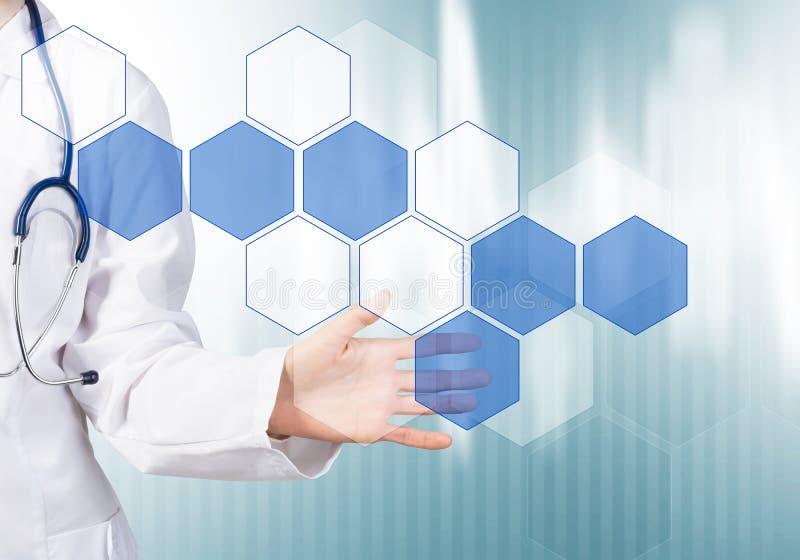 Moderne technologieën in geneeskunde stock afbeeldingen