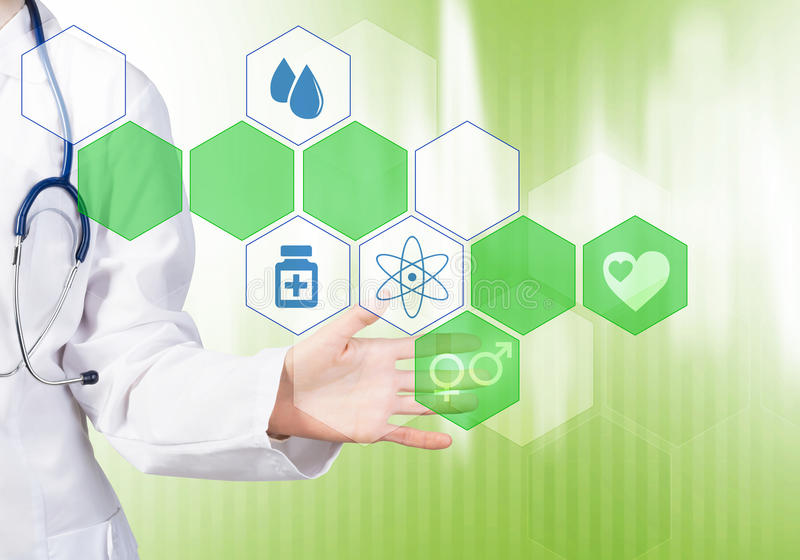 Moderne technologieën in geneeskunde stock afbeelding