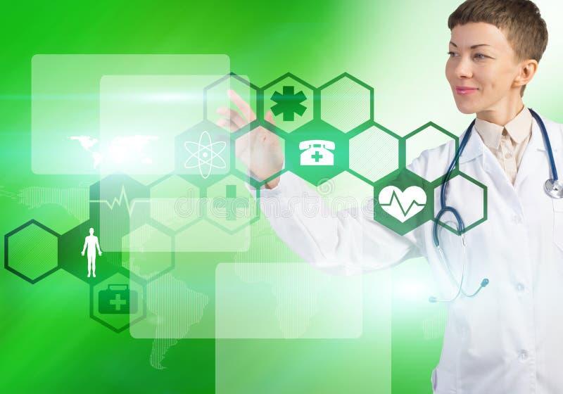 Moderne technologieën in geneeskunde stock foto