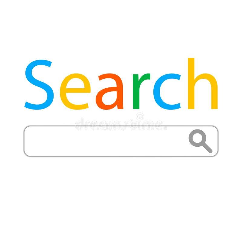 Moderne technologie van informatieherwinning Het Concept Onderzoek vector illustratie