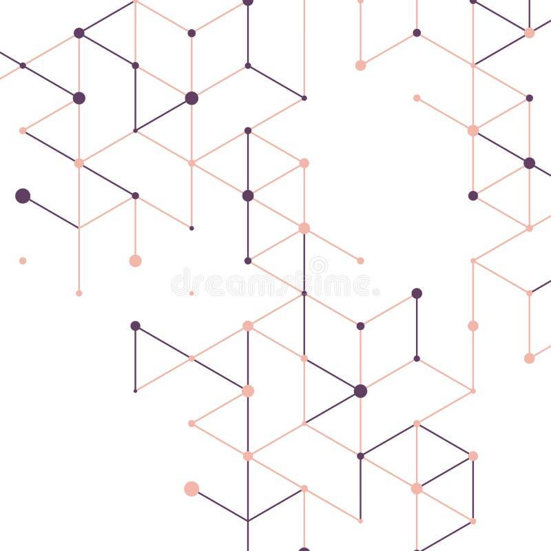Moderne technologieillustratie met vierkante opening vector illustratie
