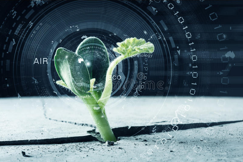 Moderne Technologien für neues Leben stockbild