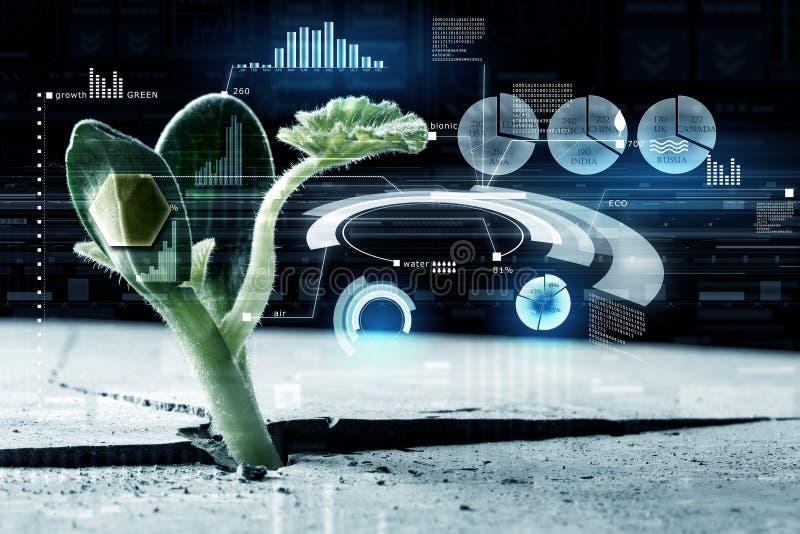 Moderne Technologien für neues Leben stockbilder