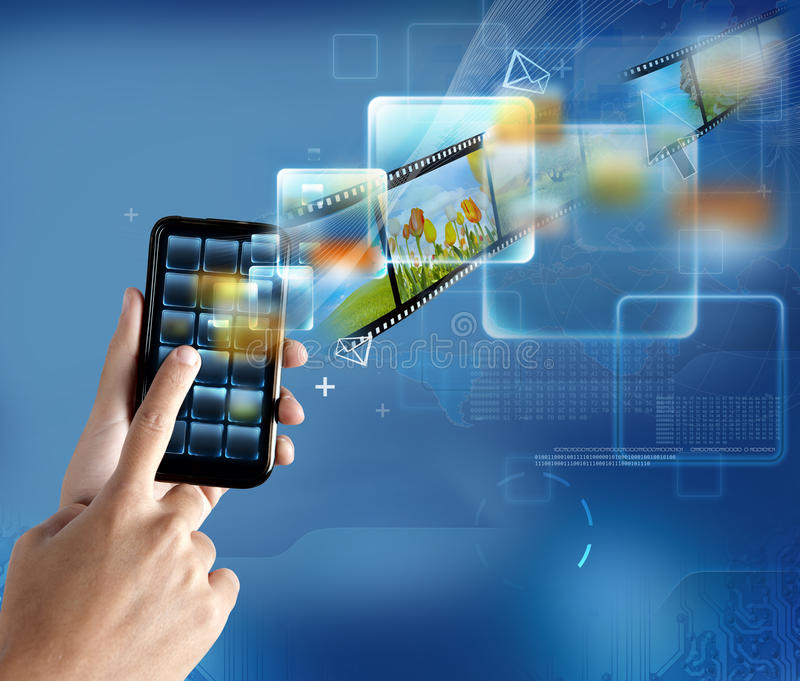 Moderne technologiesmartphone stock foto's