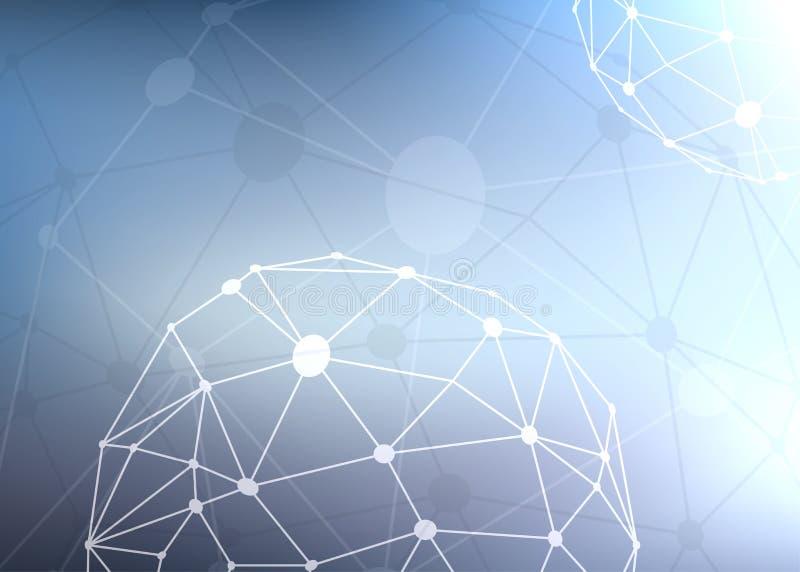 Moderne Technologieverbindungen und Maschenhintergrund vektor abbildung