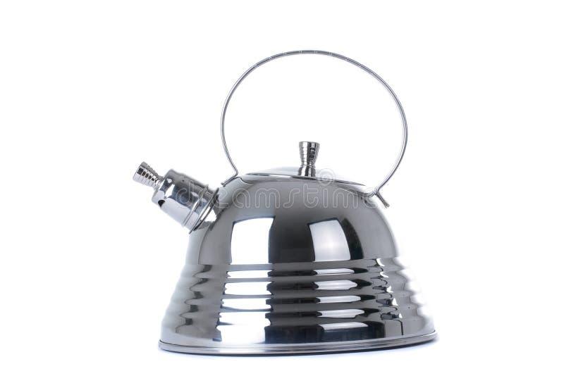 Moderne Teekanne moderne teekanne auf einem weißen hintergrund stockbild bild