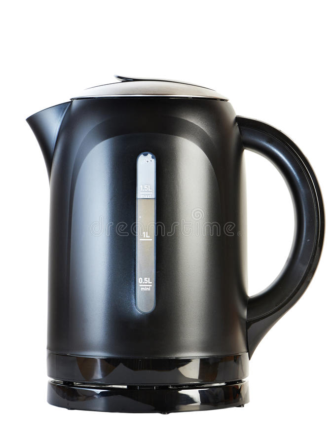 Moderne Teekanne moderne teekanne lokalisiert auf weiß stockfoto bild