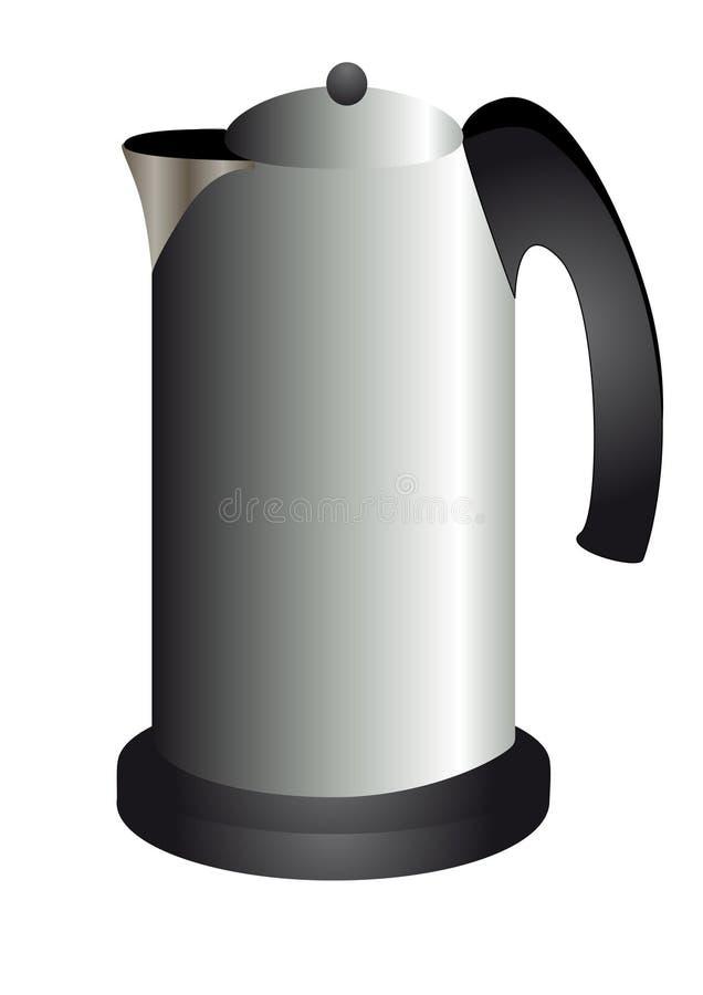 Moderne Teekanne moderne teekanne metallisch vektor abbildung illustration