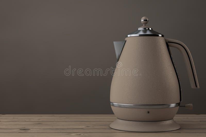 Moderne Teekanne moderne teekanne oder wasserkocher wiedergabe 3d stock abbildung