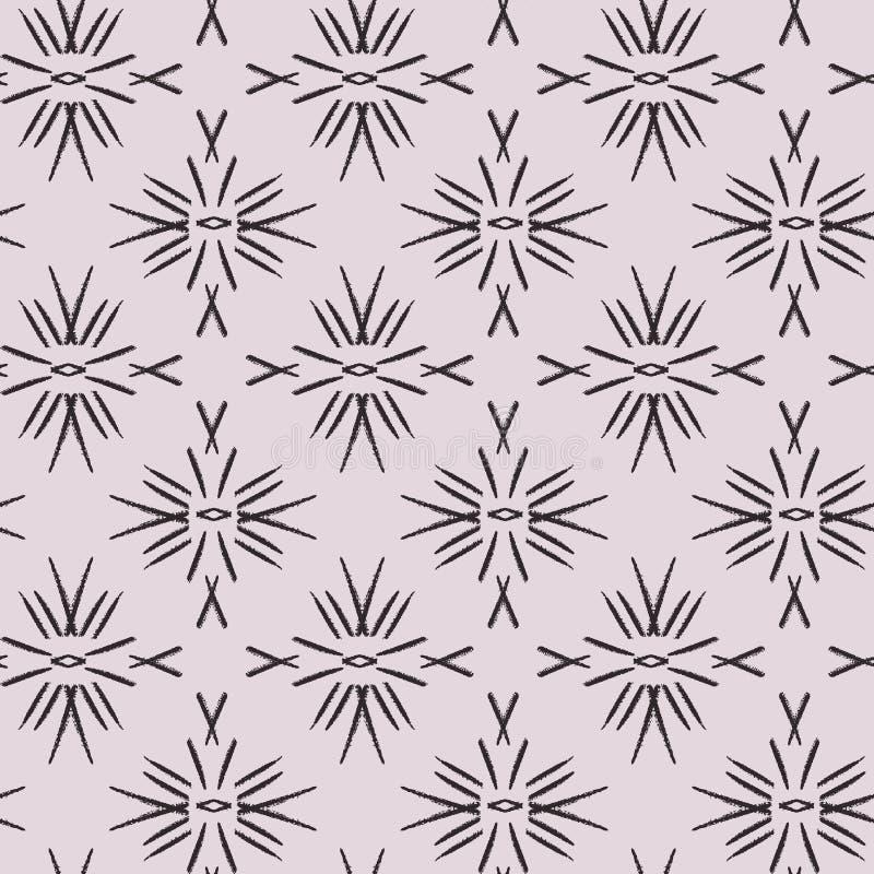 Moderne tegel modieuze abstracte illustratie met eenvoudige lijnen Patroon voor reclamespots: stof, behang, ceramisch, huisdecor, stock illustratie