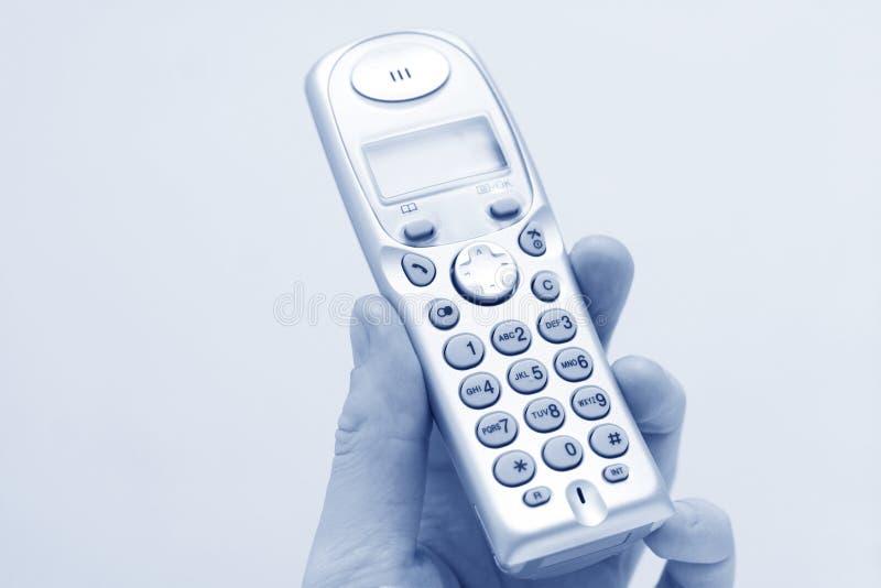 Moderne telefoon ter beschikking royalty-vrije stock foto's