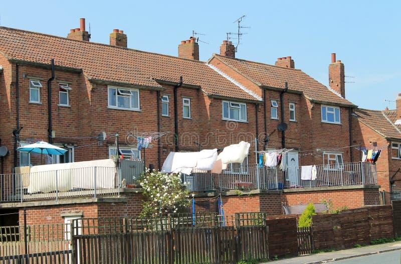 Moderne terrashuizen royalty-vrije stock foto