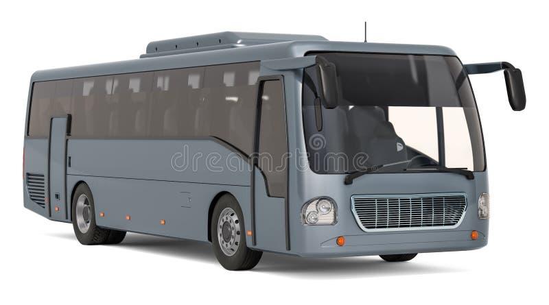 Moderne toeristenbus, het 3D teruggeven royalty-vrije illustratie