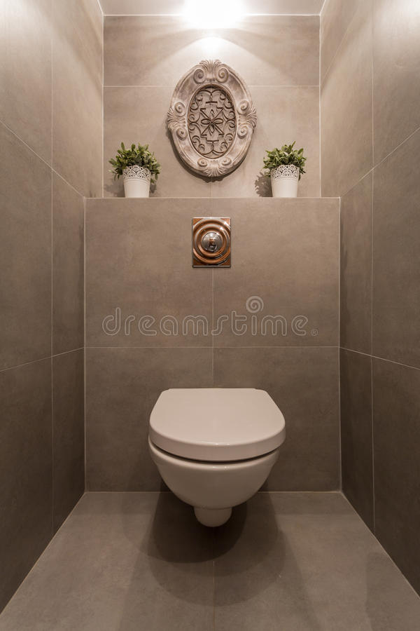 Moderne Toilette stockbilder