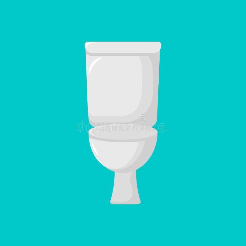 Moderne Toilettenikone Karikaturtoilette vektor abbildung
