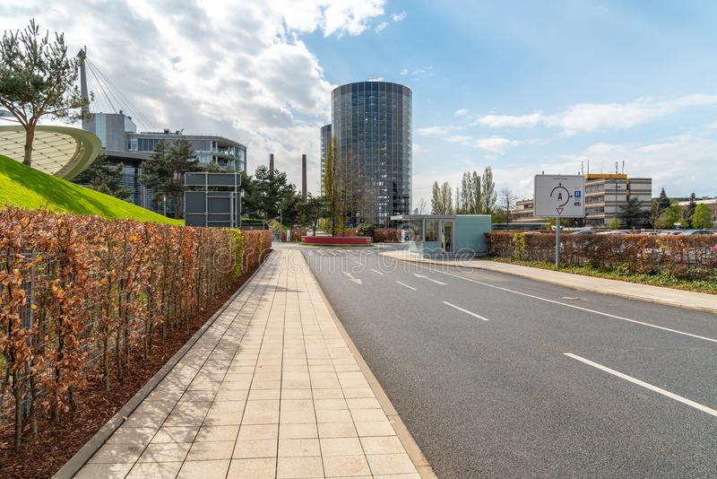 Moderne torens in Wolfsburg royalty-vrije stock foto