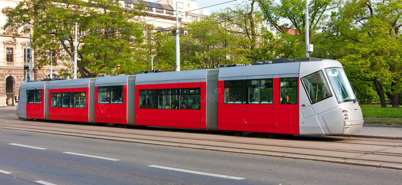 Moderne tram stock fotografie