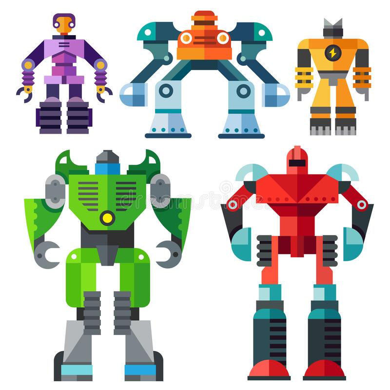 Moderne transformatorrobots stock illustratie