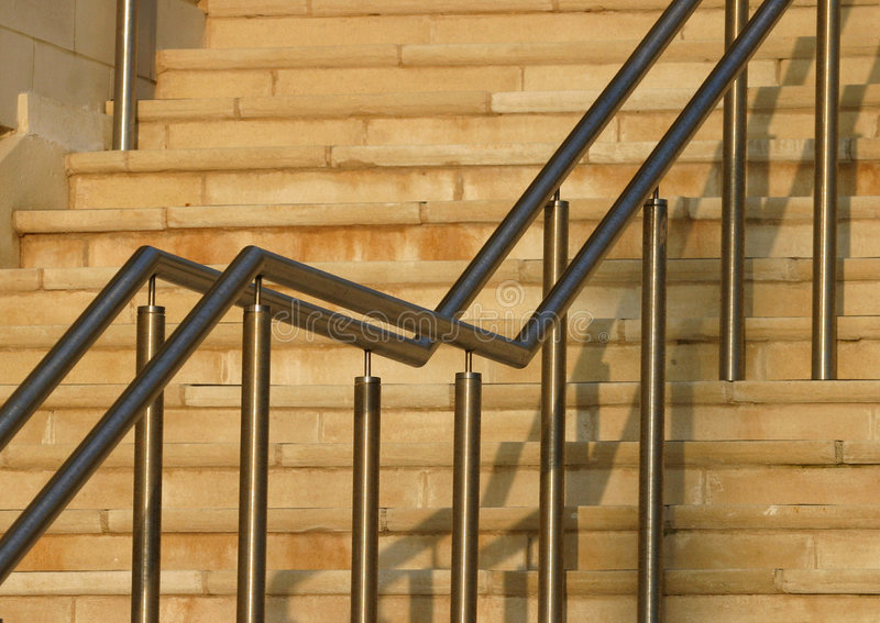 Download Moderne Treppe-Schienen stockfoto. Bild von winkel, entwerfer - 48264