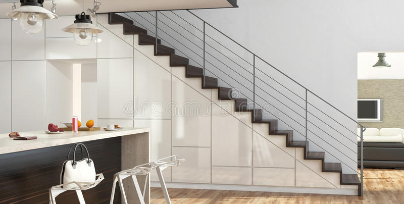 Moderne Treppen moderne treppen stock abbildung illustration aufgebaut 56388380