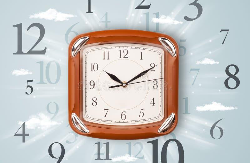 Moderne Uhr Mit Zahlen Auf Der Seite Stockbild - Bild von