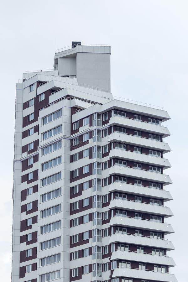 Moderne und neue Wohnanlage Mehrstöckiger, moderner, neuer und stilvoller lebender Wohnblock Grundbesitz? Häuser, Ebenen für Verk stockbilder