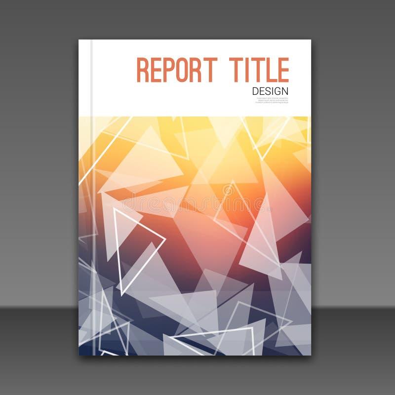Moderne unscharfe Hintergrund Vektor-Schablone für Geschäfts-Broschüren-, Berichts-, Plakat-, Fahnen-oder Flieger-Design Fliegerm lizenzfreie abbildung
