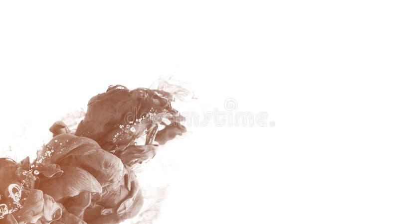 Moderne van de het achtergrond waterkleur van de Inktdaling abstracte motie creatieve rust vector illustratie