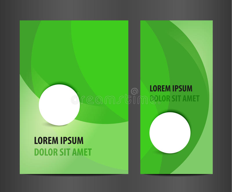 Moderne vector abstracte brochure vector illustratie