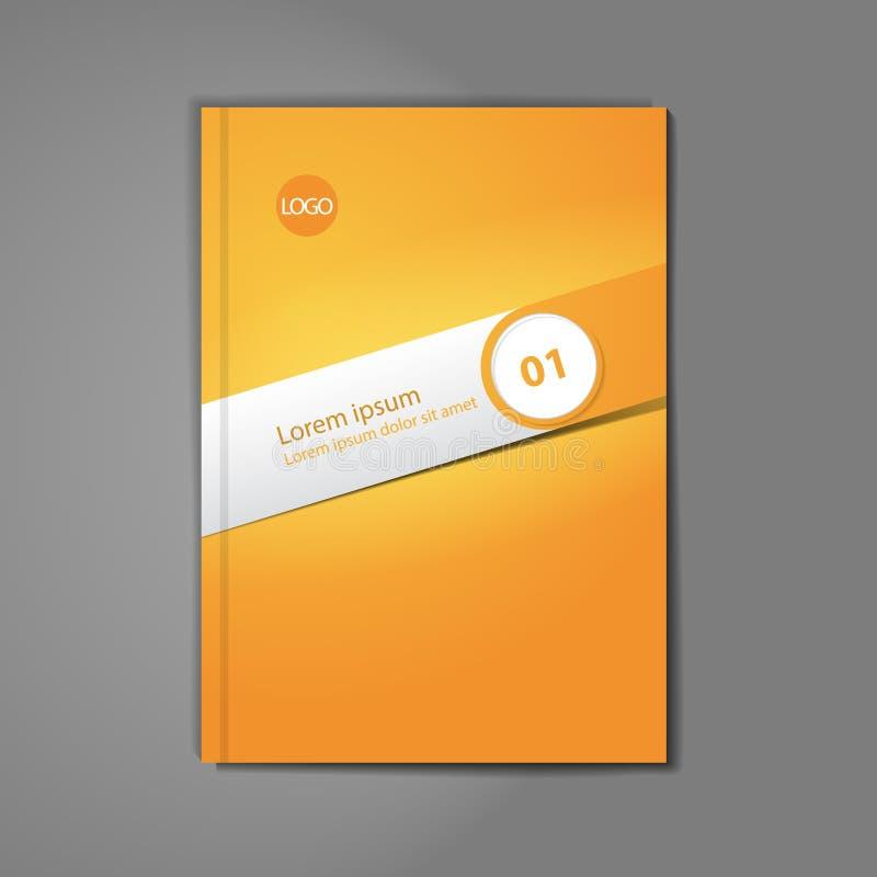 Moderne vector abstracte brochure stock illustratie