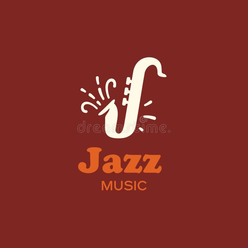 Moderne vector professionele de jazzmuziek van het tekenembleem royalty-vrije illustratie