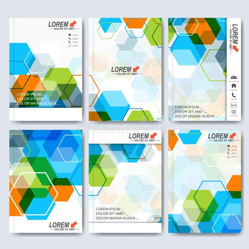 Moderne vectormalplaatjes voor brochure, vlieger, dekkingstijdschrift of rapport in A4 grootte Zaken, wetenschap, geneeskunde en vector illustratie