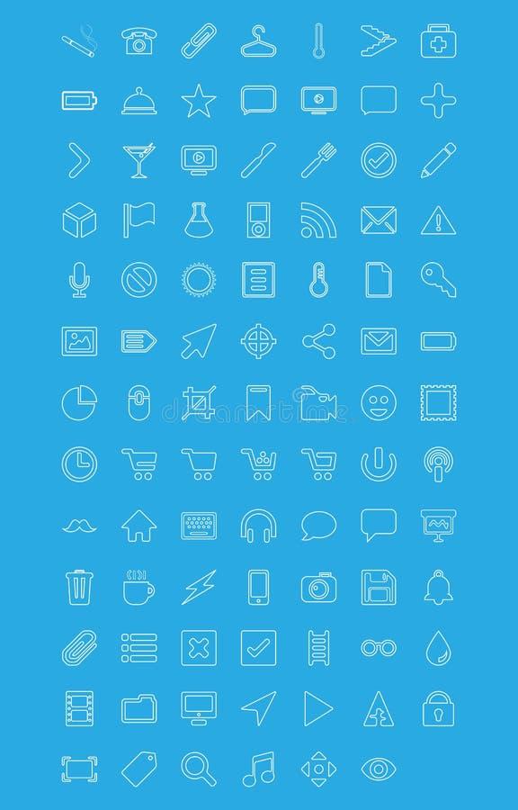 Moderne vectorpictogrammen die in vlakke stijl worden geplaatst vector illustratie