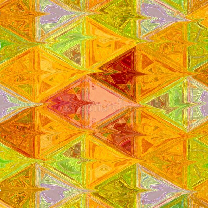Moderne Veelhoekige Illustratie Symmetrische Driehoeken van Autumn Colors Driehoekig Abstract Patroon stock foto's