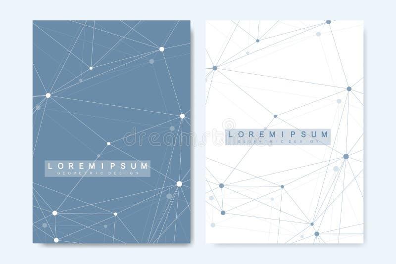 Moderne Vektorschablone für Broschüre, Abdeckung, Fahne, Flieger, Jahresbericht, Broschüre Zusammensetzung der abstrakten Kunst m vektor abbildung