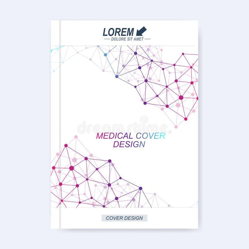 Moderne Vektorschablone für Broschüre, Broschüre, Flieger, Abdeckung, Zeitschrift oder Jahresbericht lizenzfreie abbildung