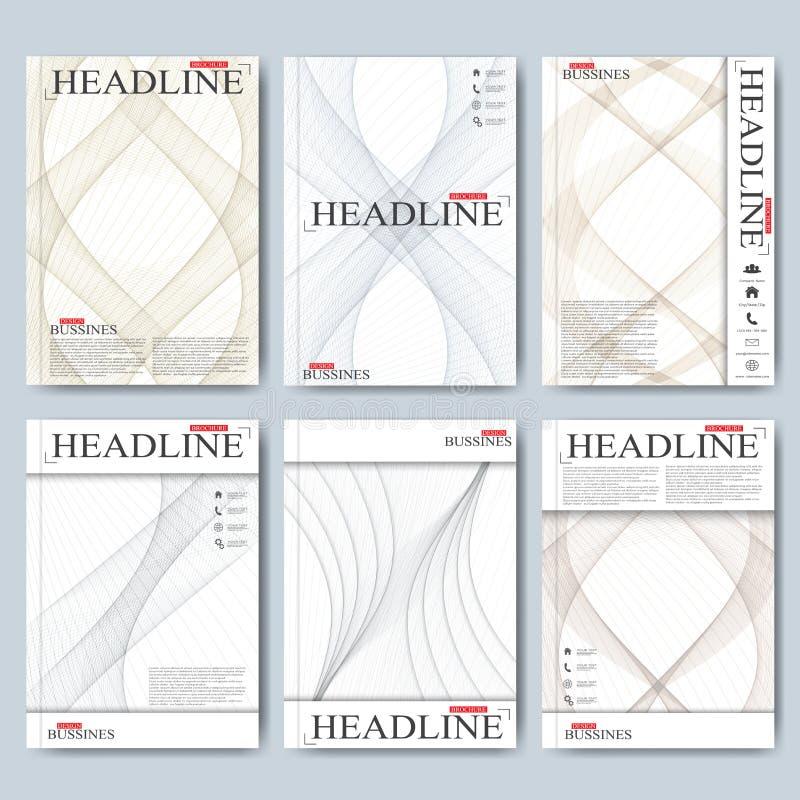 Moderne Vektorschablonen für Broschüre, Flieger, Abdeckungszeitschrift oder Bericht in der Größe A4 Geschäft, Wissenschaft, Mediz vektor abbildung
