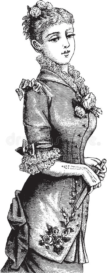 Moderne viktorianische Dame vektor abbildung