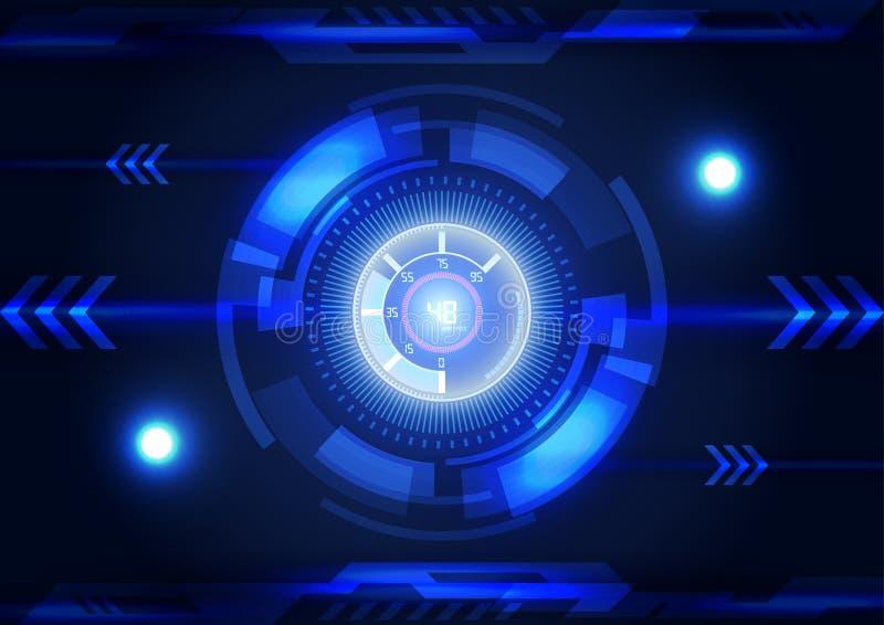 Moderne virtuelle Technologiehintergrundschnittstelle stock abbildung