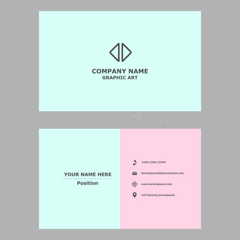 Moderne Visitenkarte saubere Entwurfsschablone für Berufs-, persönliches und Firma stockfotografie