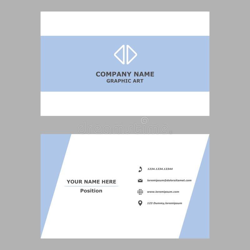 Moderne Visitenkarte saubere Entwurfsschablone für Berufs-, persönliches und Firma lizenzfreie abbildung